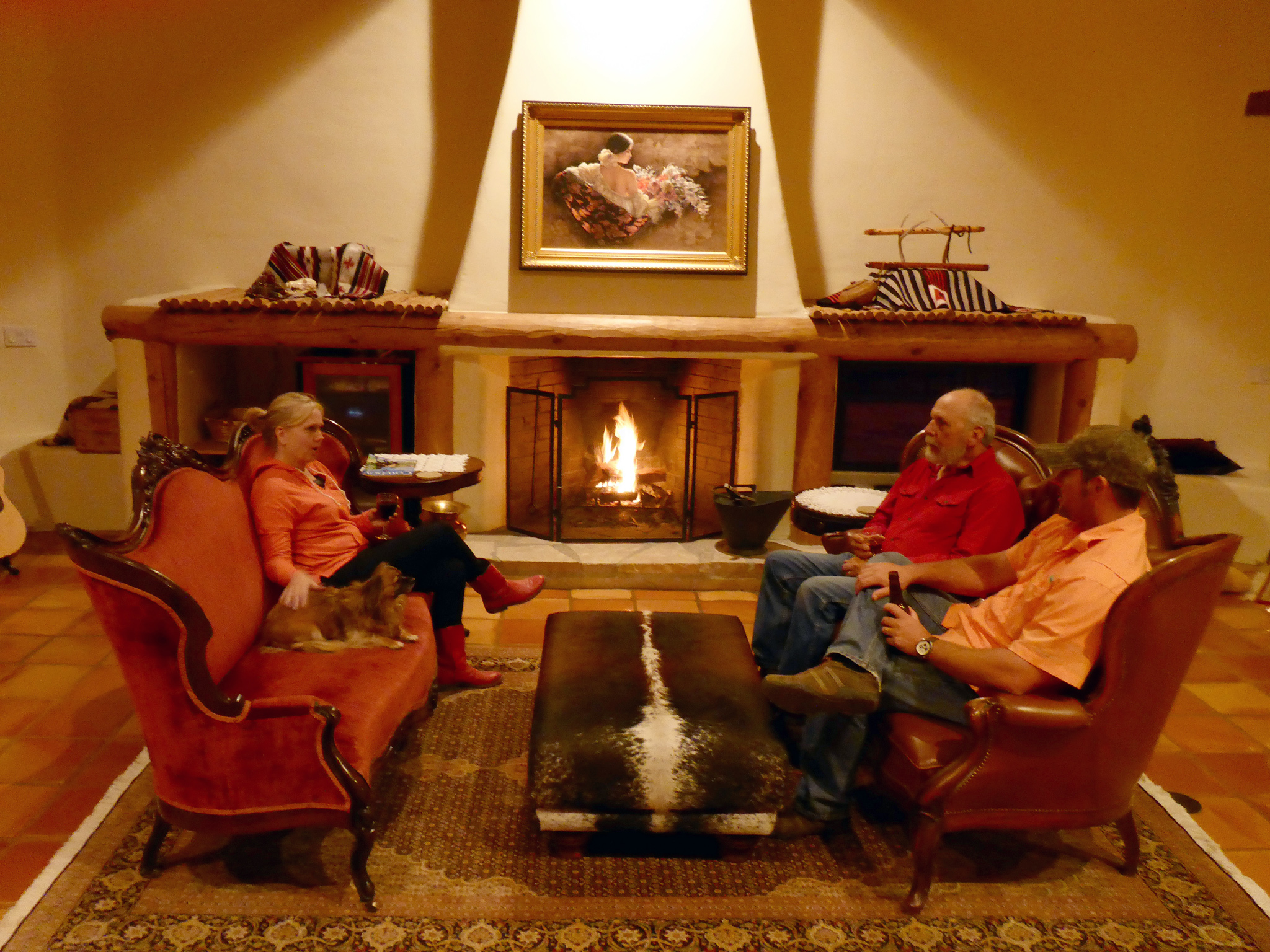 Fireplace in Main Ranch House